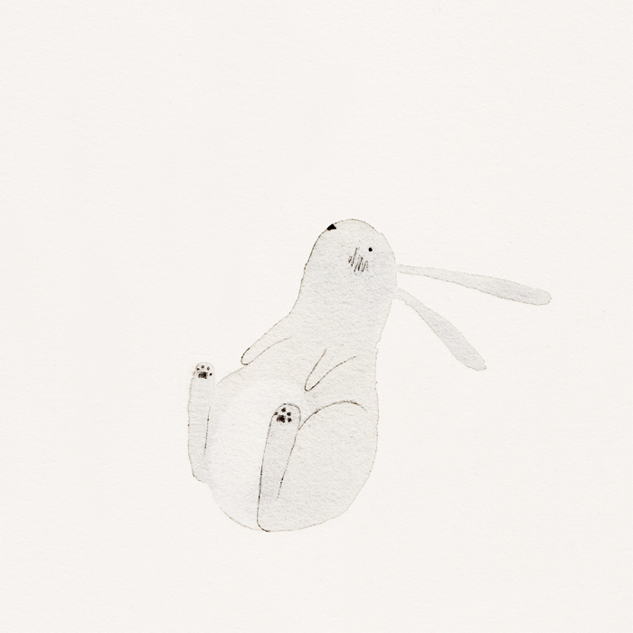 Rabbit by illustrator Amy Oreo | Quirky and whimsical freelance illustration