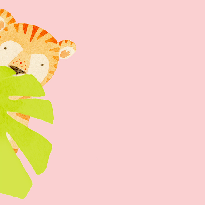 Shy tiger by illustrator Amy Oreo | Quirky and whimsical freelance illustration