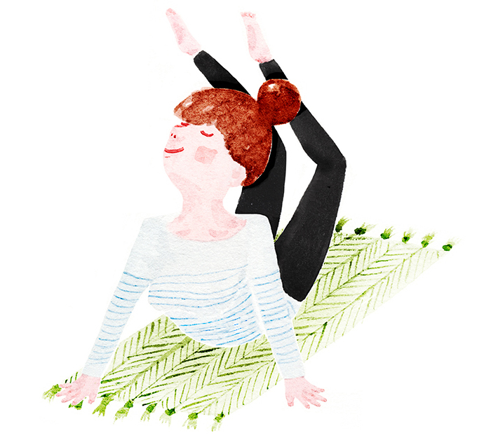 Yoga by illustrator Amy Oreo | Quirky and whimsical freelance illustration