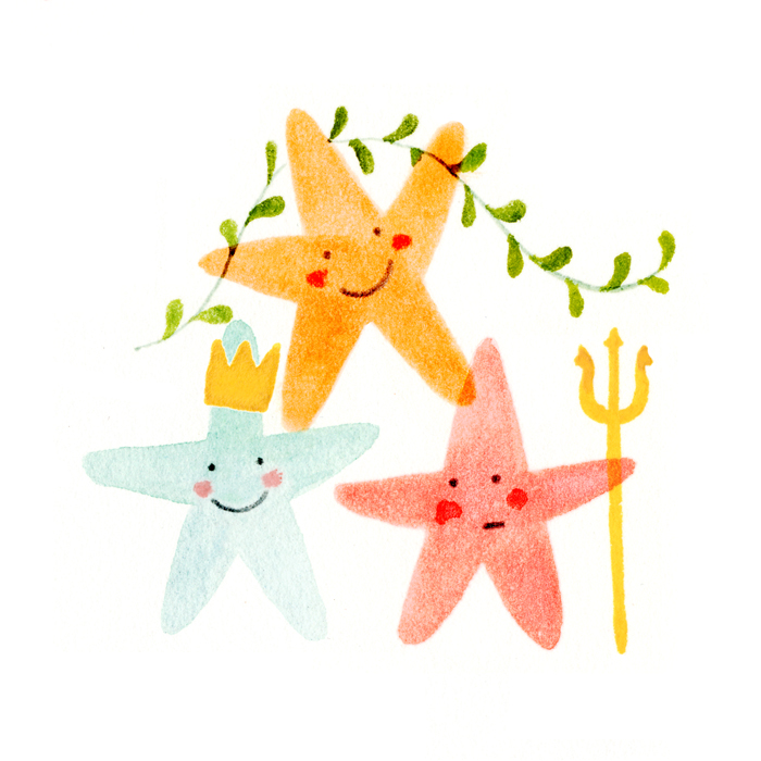 Starfish by illustrator Amy Oreo | Quirky and whimsical freelance illustration
