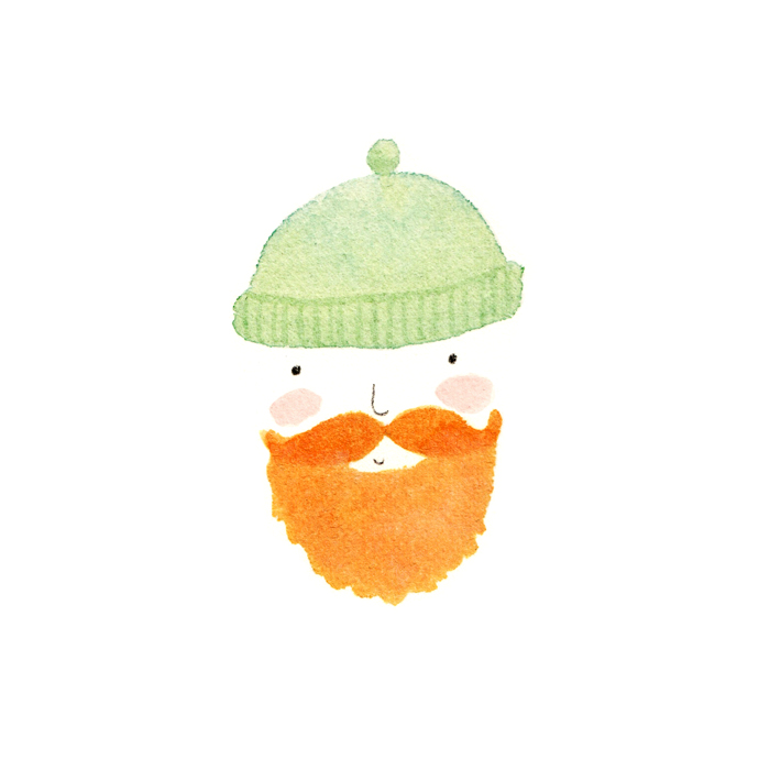 Ginger bearded sailor by illustrator Amy Oreo | Quirky and whimsical freelance illustration