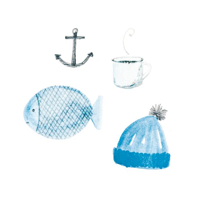 Fisherman by Amy Oreo | Illustrator + Designer