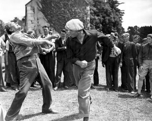 John Wayne lays a haymaker in The Quiet Man
