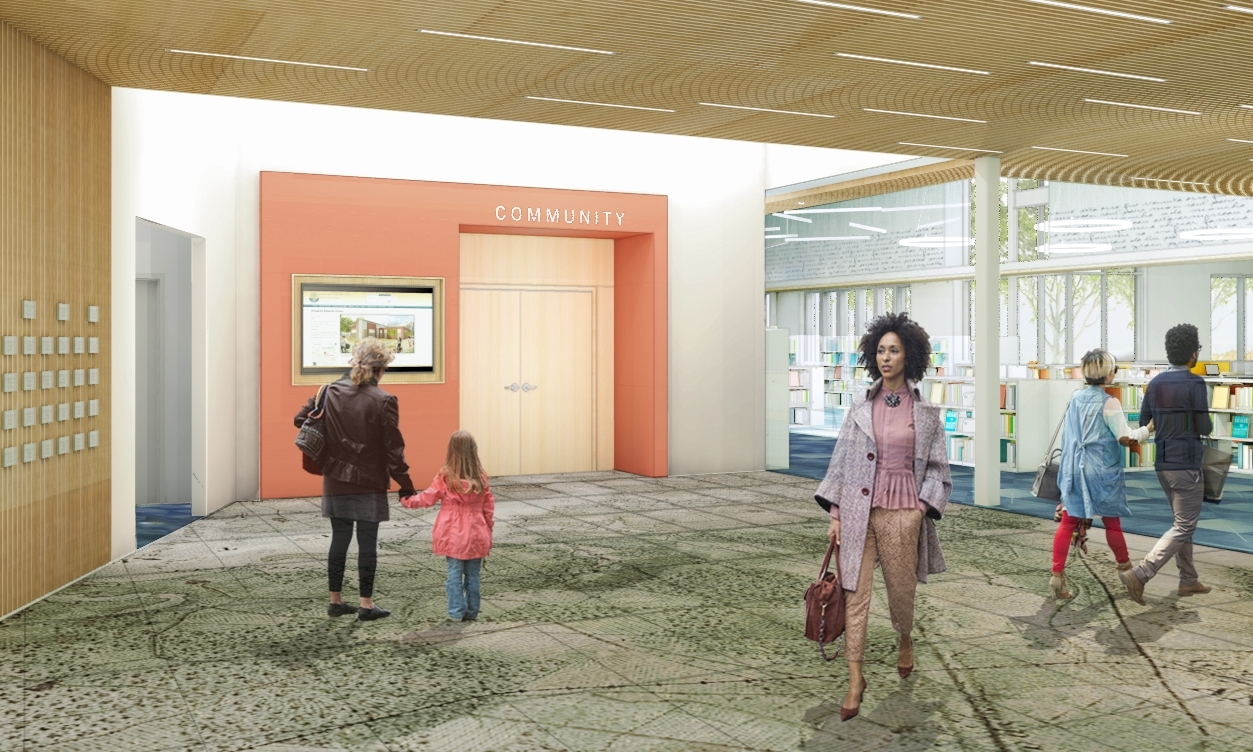 Annapolis Library: Design Development Rendering (courtesy of WGM Architects)