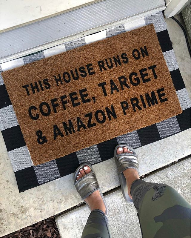 Anyone else relate?! 🤪🙌 ✔️ Coffee ✔️ Target ✔️ Amazon Prime  A little spring upgrade to the front door! I've linked this exact door mat + similar ones! Also these are my go-to leggings for running errands, etc. only $20 and I love that they have a drawstring! http://liketk.it/2BuJI #liketkit @liketoknow.it #LTKfamily #LTKhome #LTKsalealert #LTKspring #LTKstyletip #LTKunder50 @liketoknow.it.home @liketoknow.it.family Follow me on the LIKEtoKNOW.it app to get the product details for this look and others