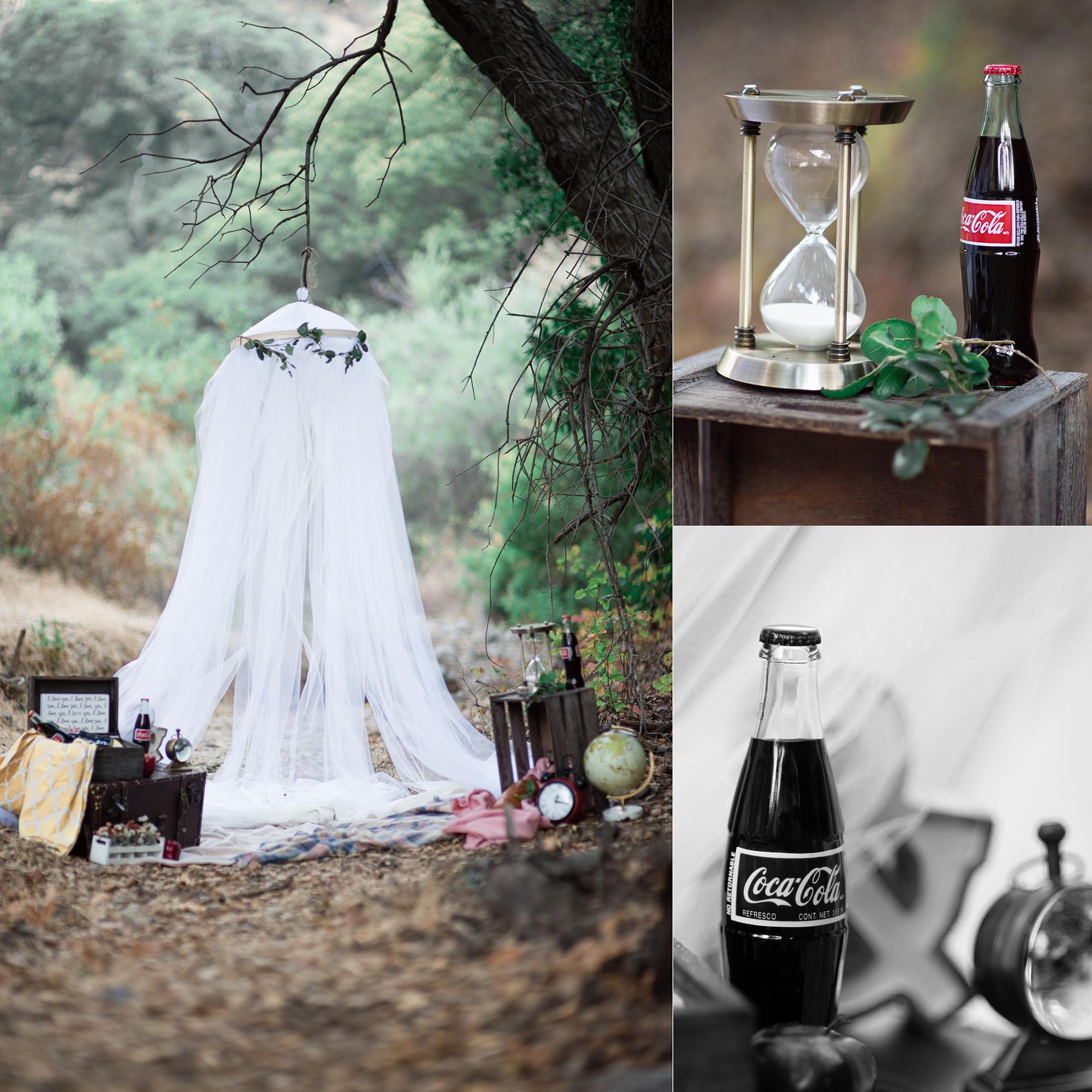 Retro, Vintage Picnic Engagement Photoshoot