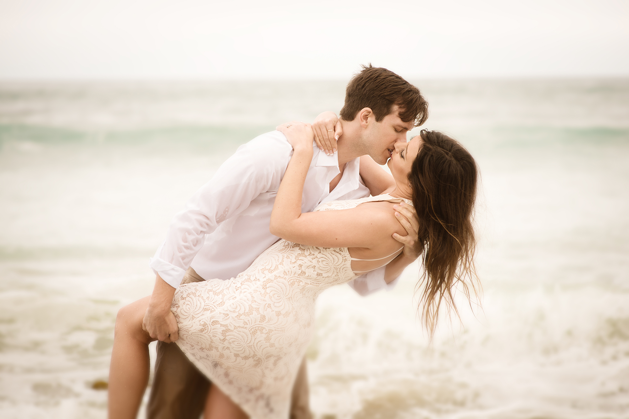 andrew and alessia, beach engagement, malibu