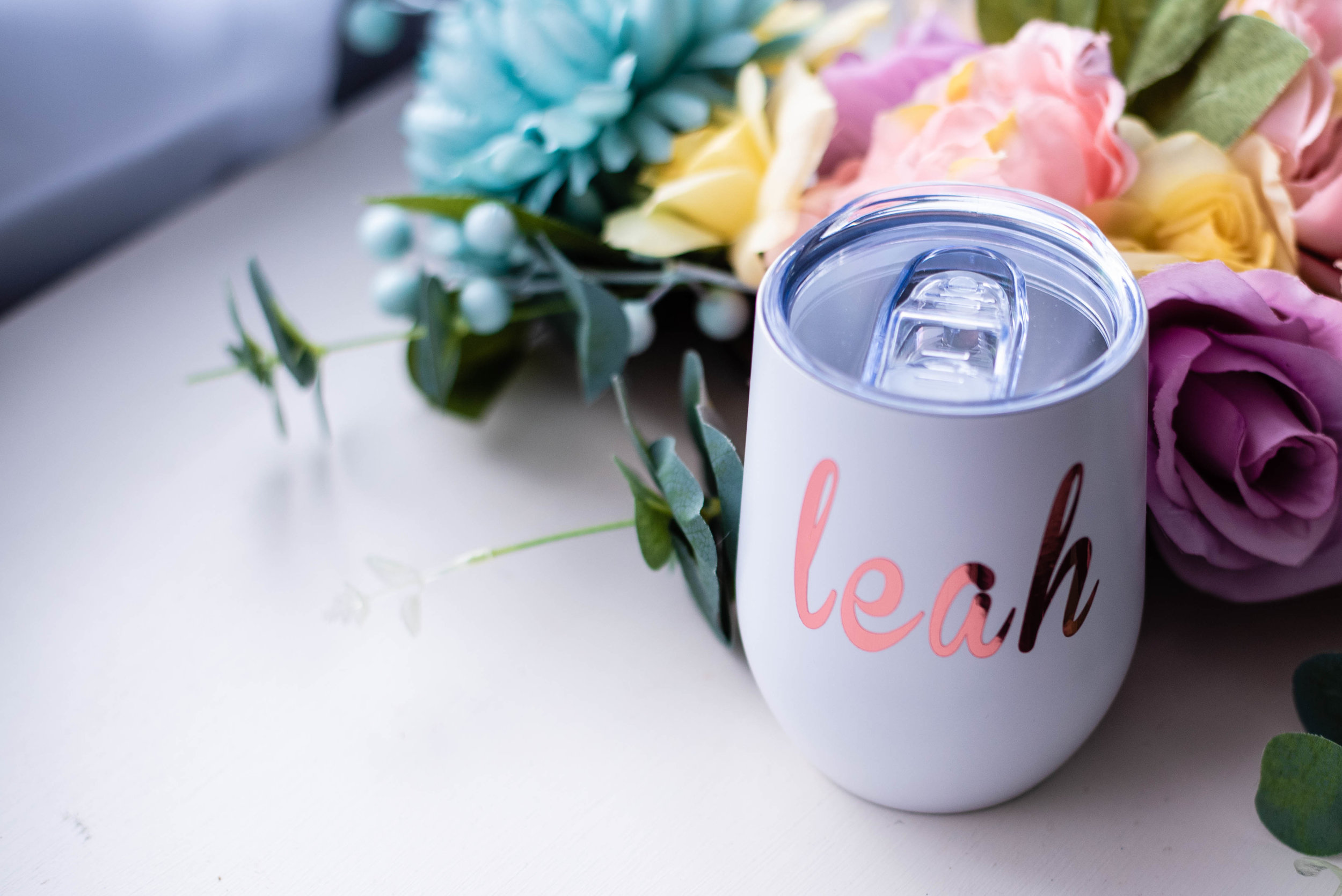 Stemless Wine Cup from Bridesmaid Gifts Boutique - oh so pretty!