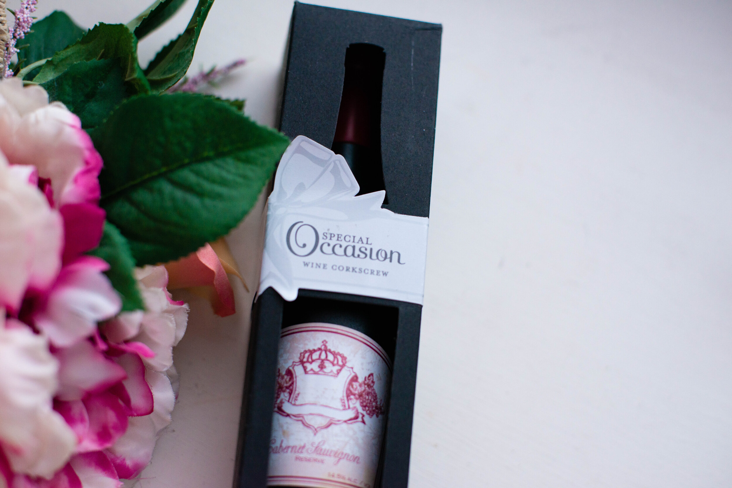 Wine Not Corkscrew shown in its box