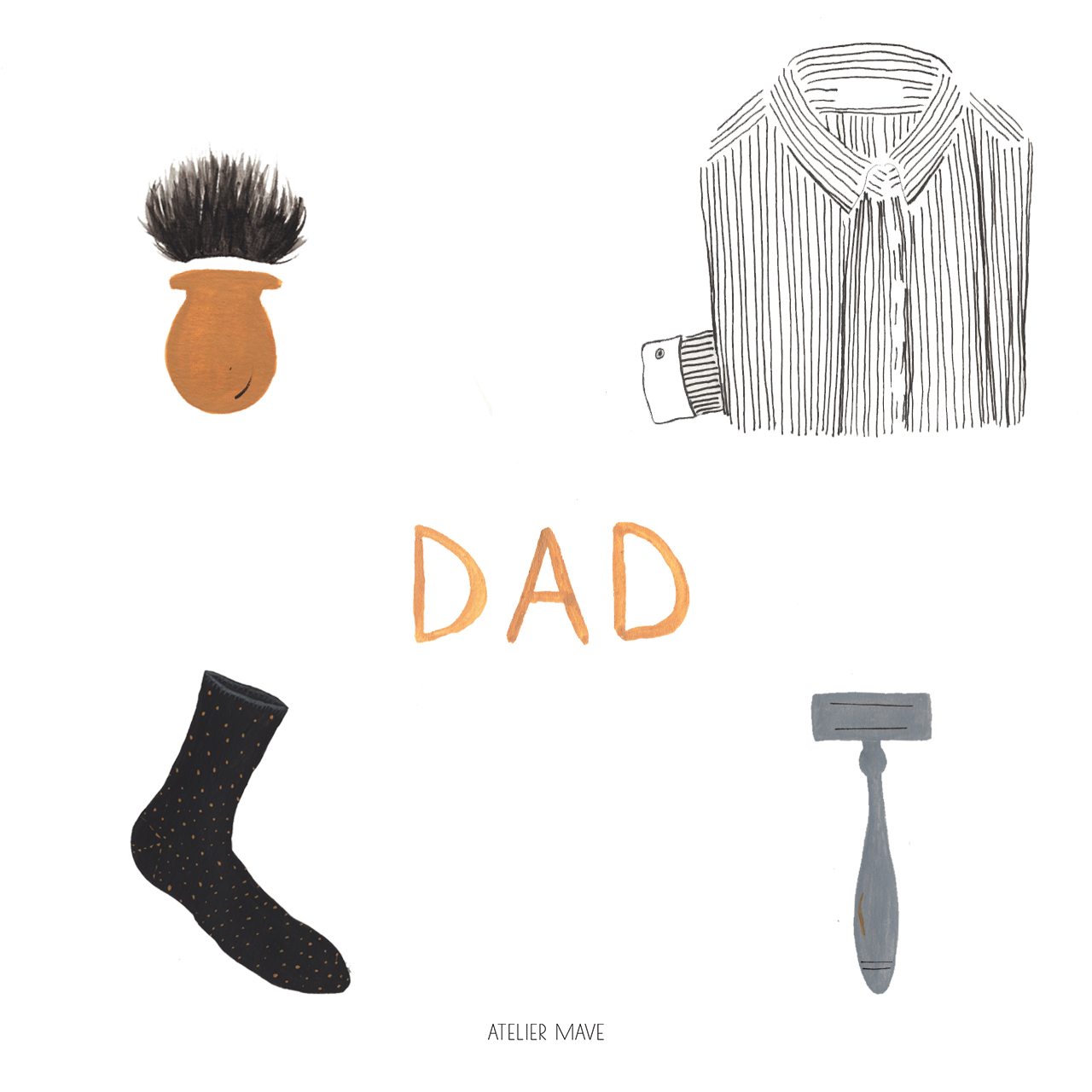 Atelier Mave - Fathers day illustration