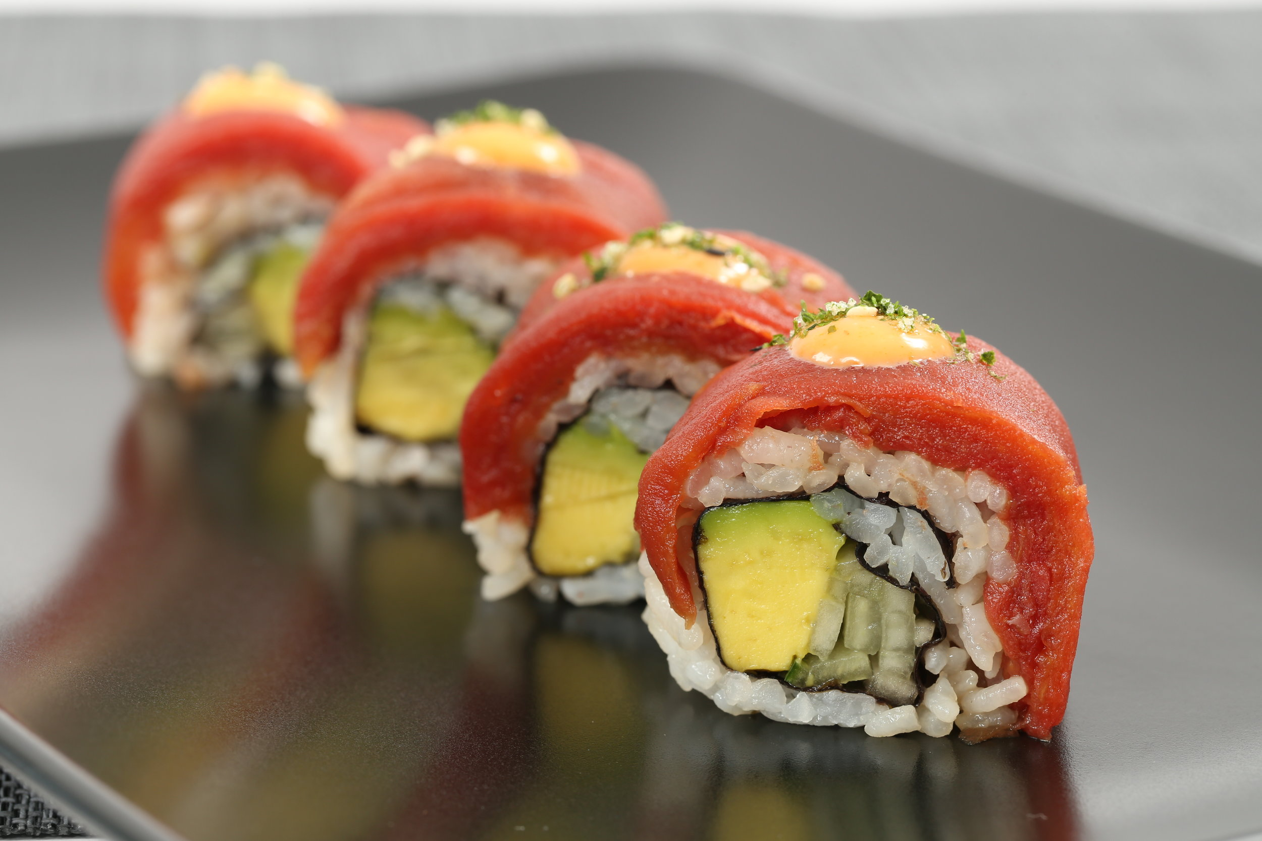 Ahimi® on an avocado maki roll
