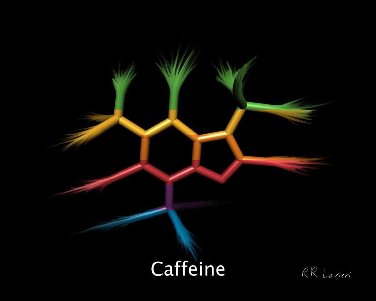 "Caffeine,2017, PIGMENT ON paper, 8"" x 10"""
