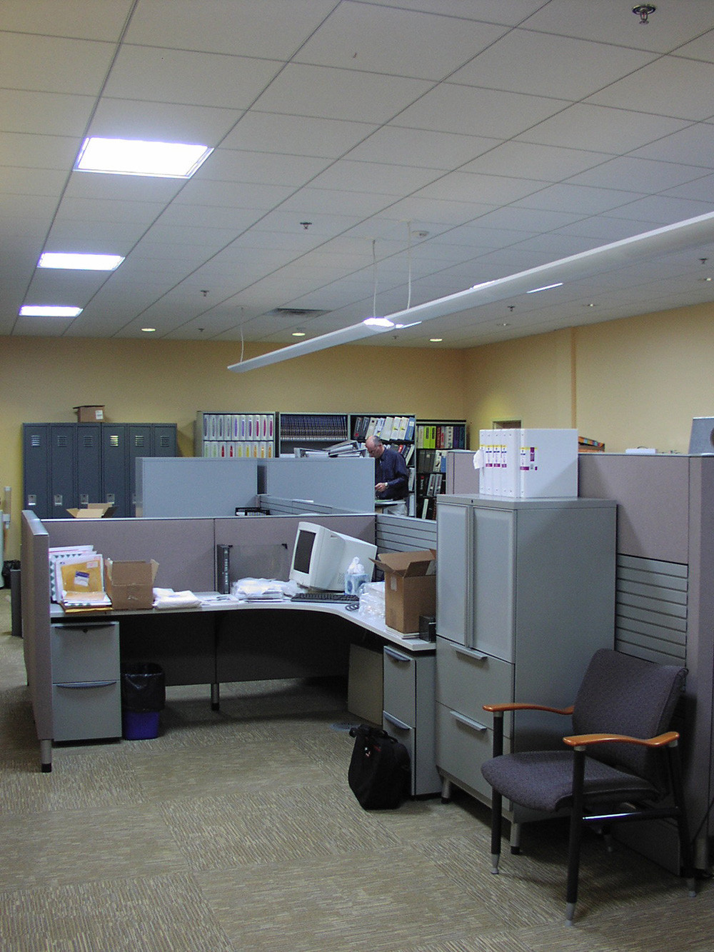 Light/Space/Design innovated light tubes with photosensor-dimmed lighting at Office Environments in South Burlington.