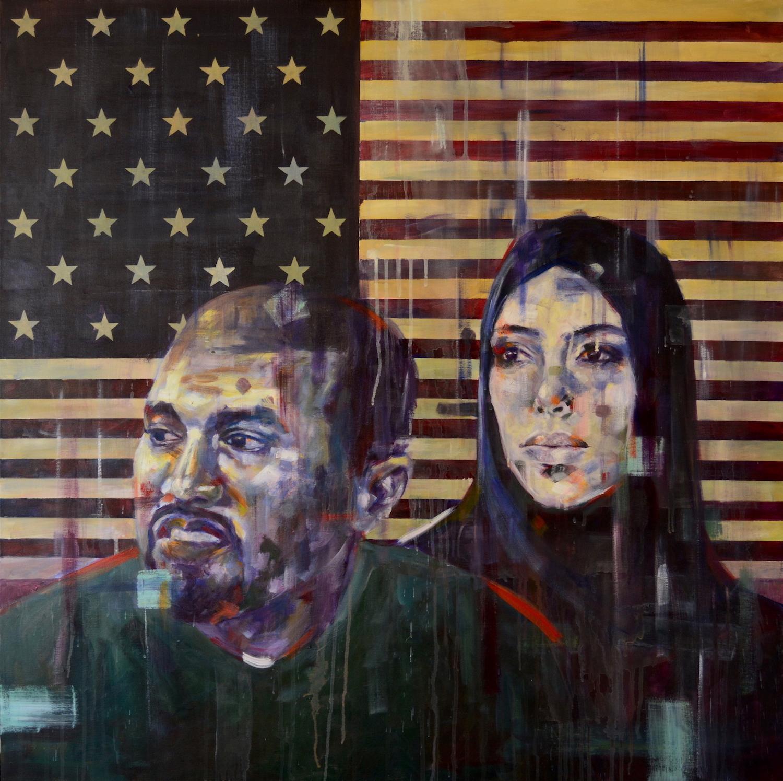 """New America"", Acrylic on canvas, 100x100cm, 2017"
