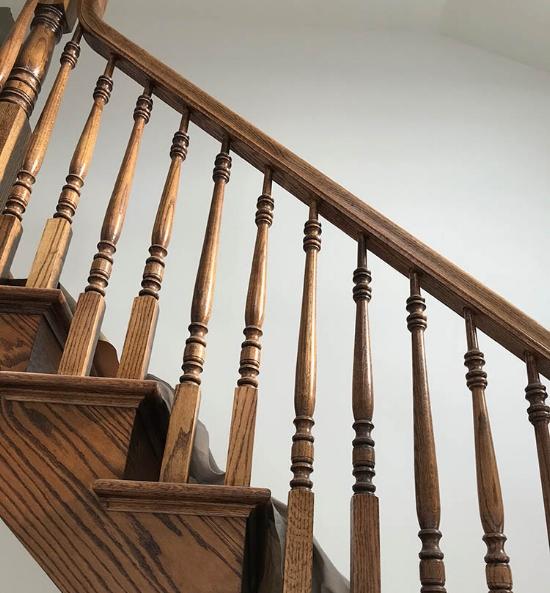 Wooden Handrail Staining.jpg