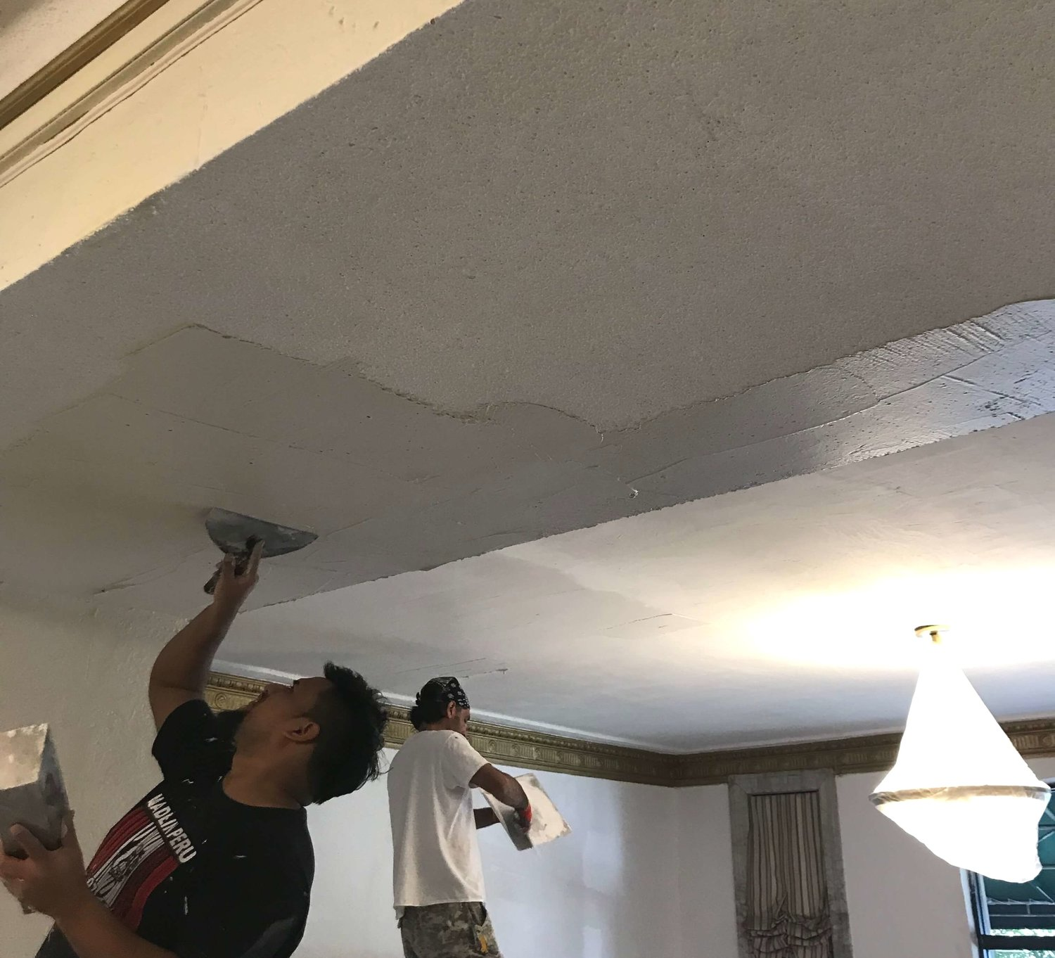 Popcorn Ceiling Plastering Nyc Paintworks Decorating