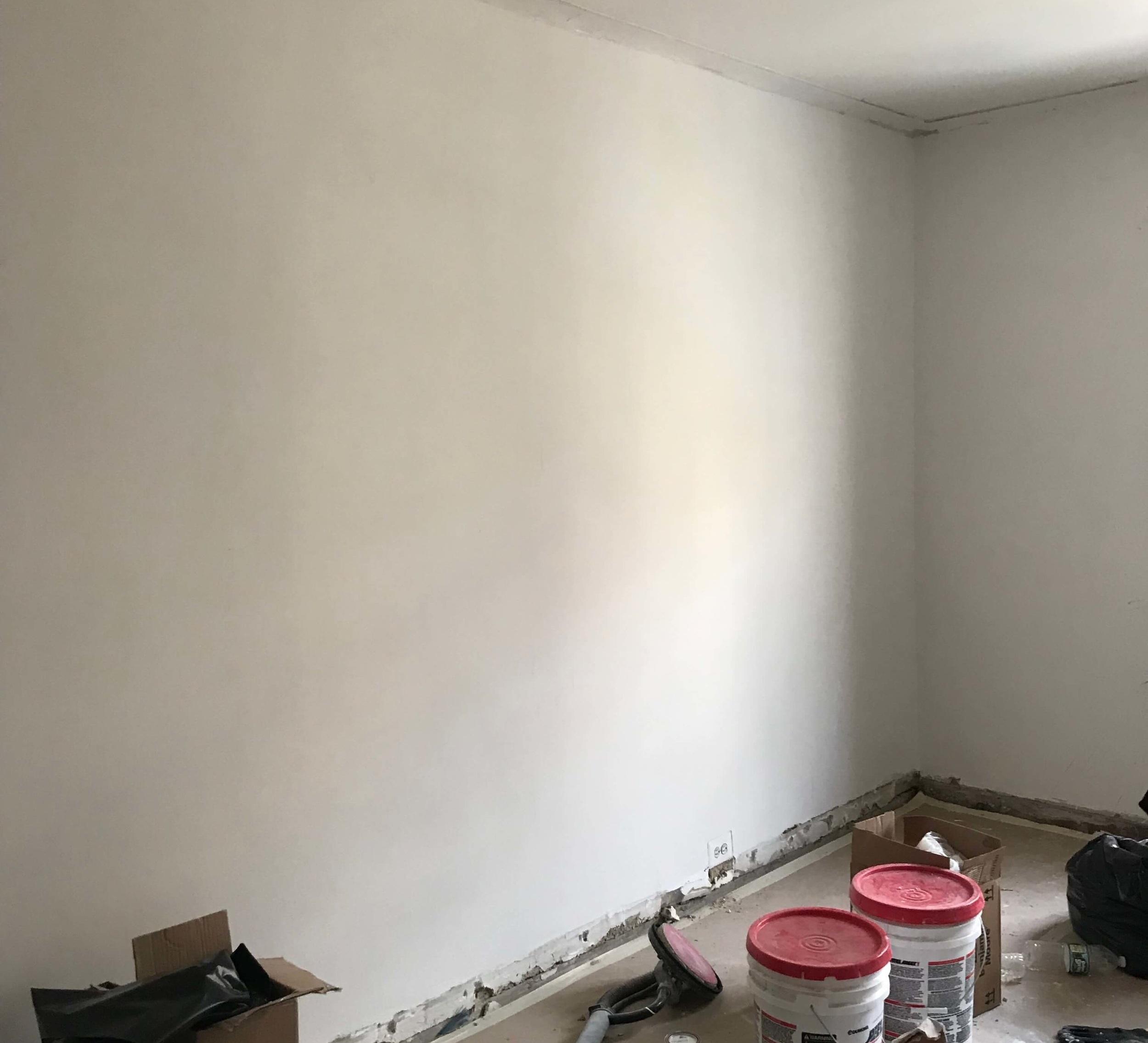 Skim coating - After 3 coats of compound plaster