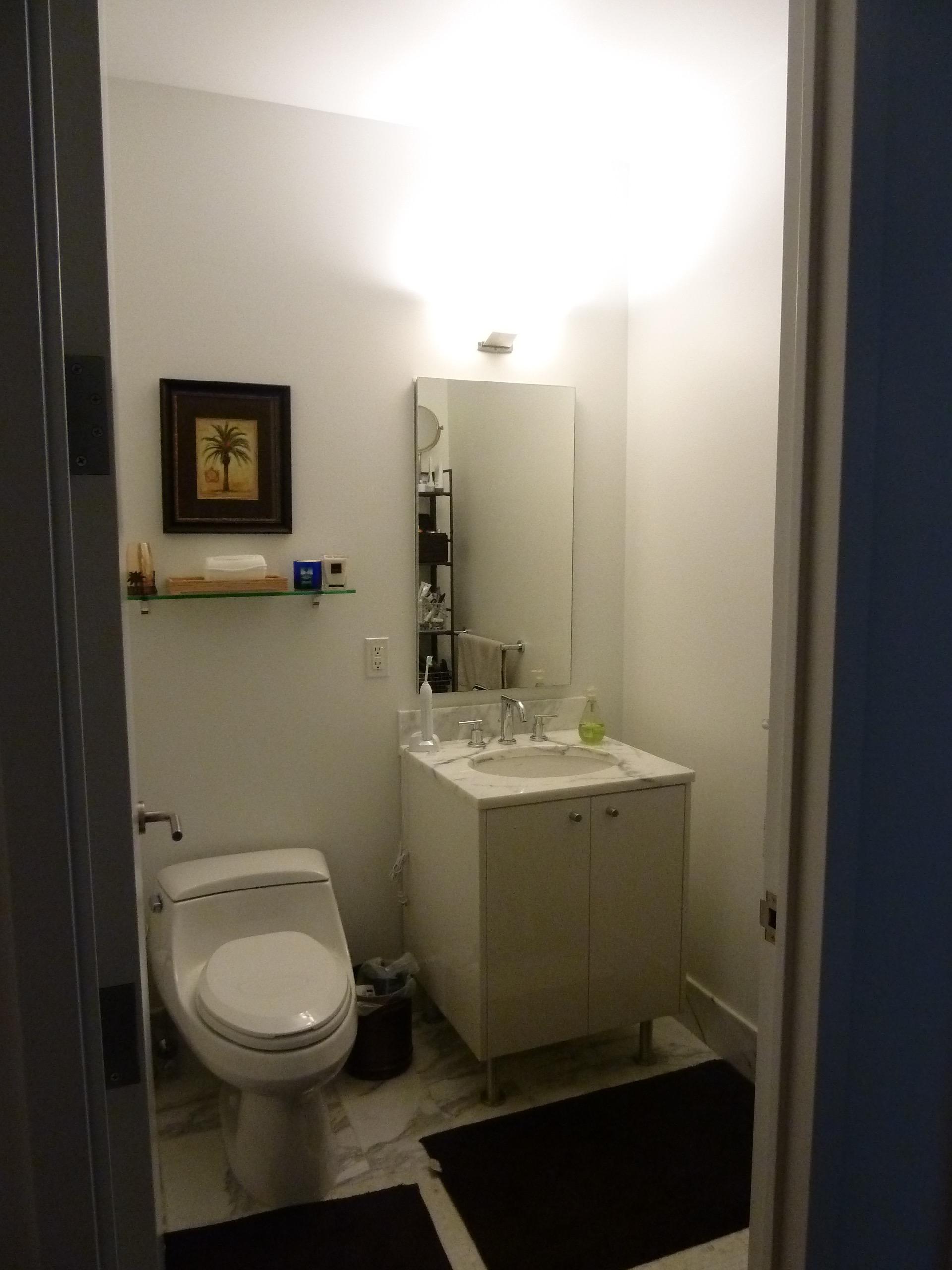 Bathroom design package before image
