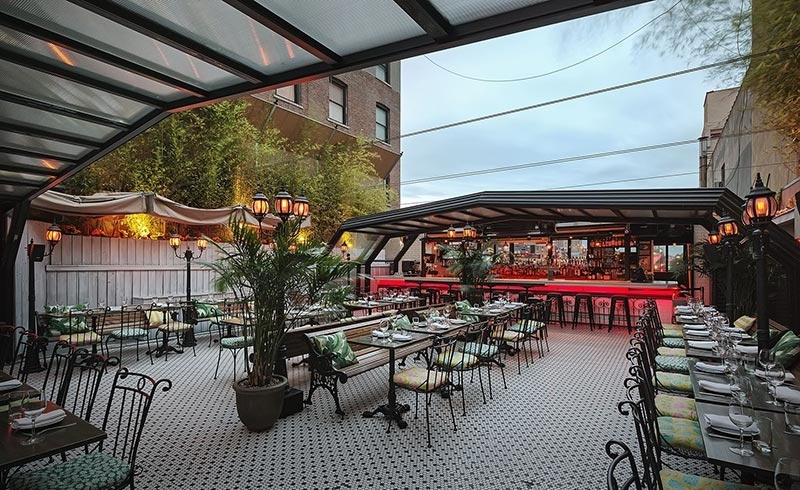 The Roof - CLIMATE CONTROLLED 24/7 • 2000 SQ FT • DINING • FULL BAR • DJ BOOTHCAPACITYSEATED EVENTS: 85 • STANDING EVENTS: 150
