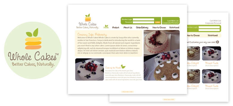 Logo and Web design for Whole Cakes