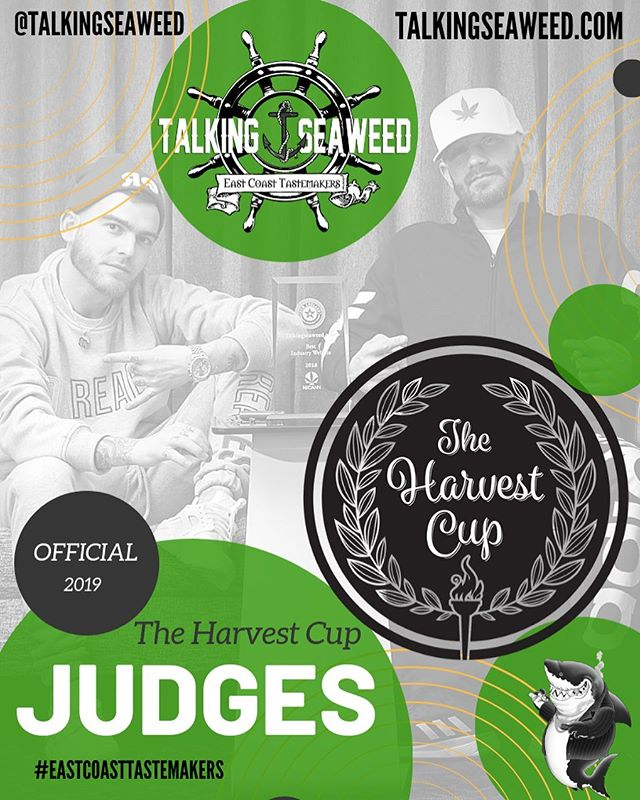 I'll be judging the indoor sativa category at @the_harvest_cup next month with my @talkingseaweed family. If you guys wanna get a close look at and possibly even smoke some of the entries with us then meet us at the FREE @talkingseaweed Halloween party in Plymouth, MA on Saturday, 10/26