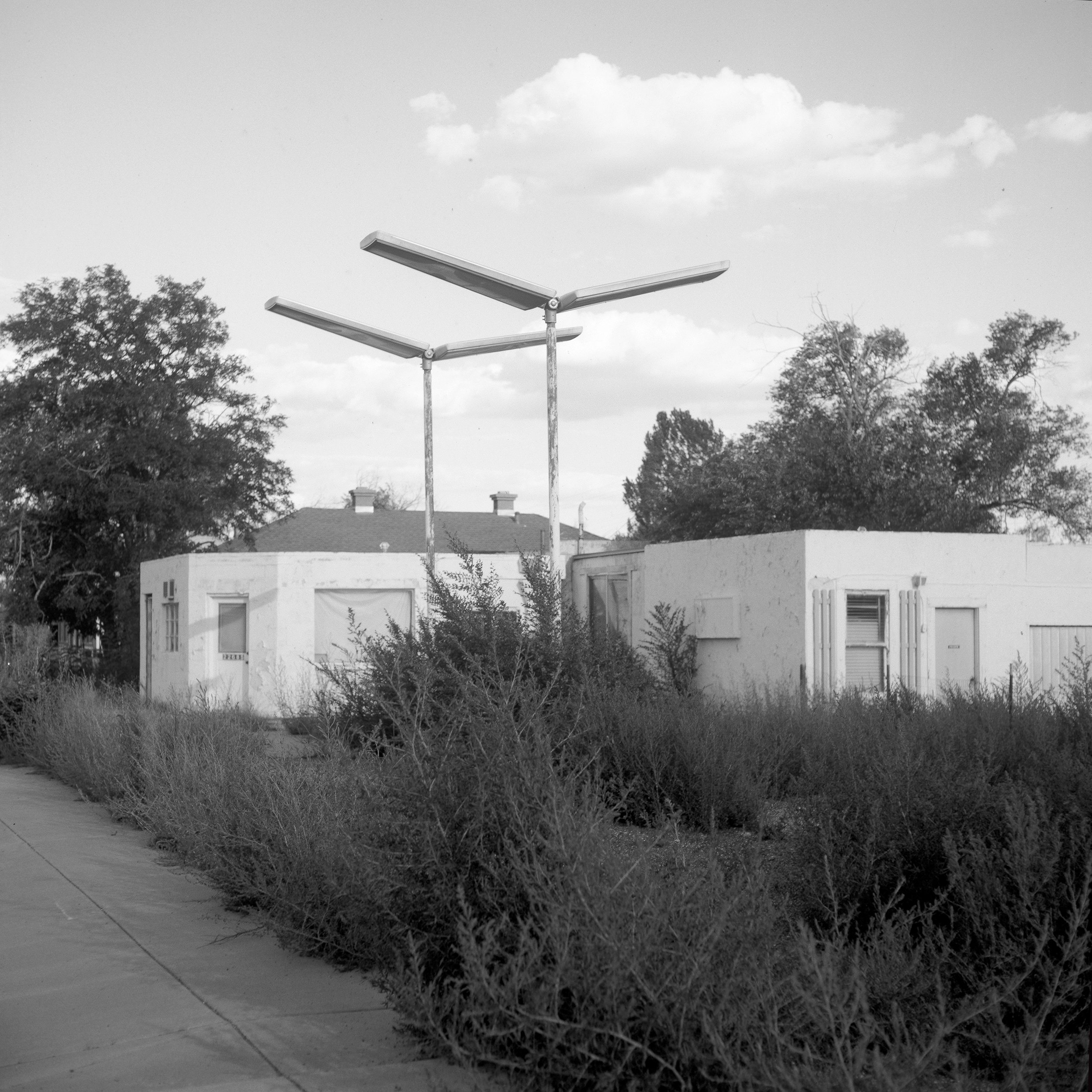 The old service station lights, Seligman, AZ, 2017 - 120 Delta 100 (6x6)