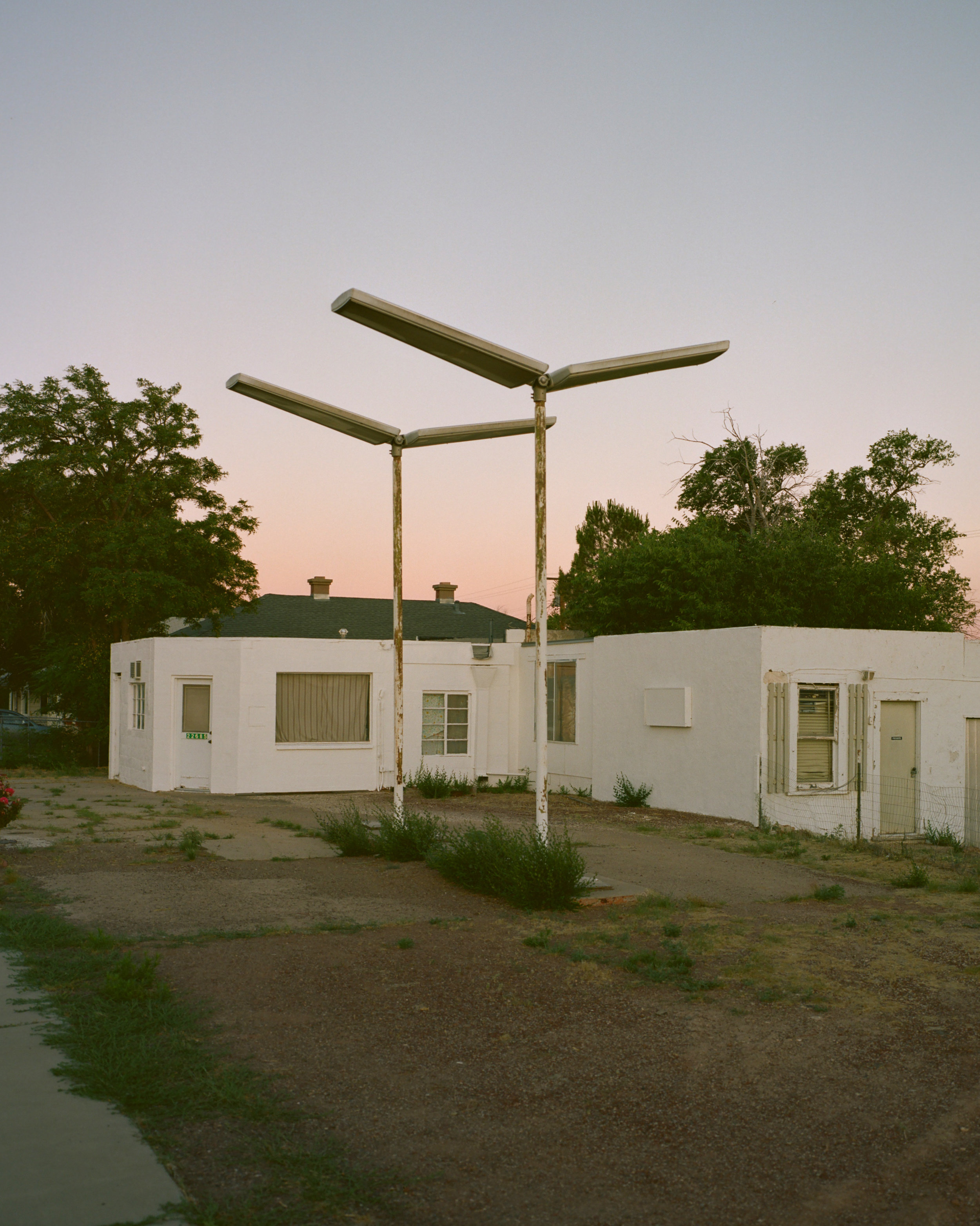 The old service station lights, Seligman, AZ, 2019 - 120 Portra (6x7)