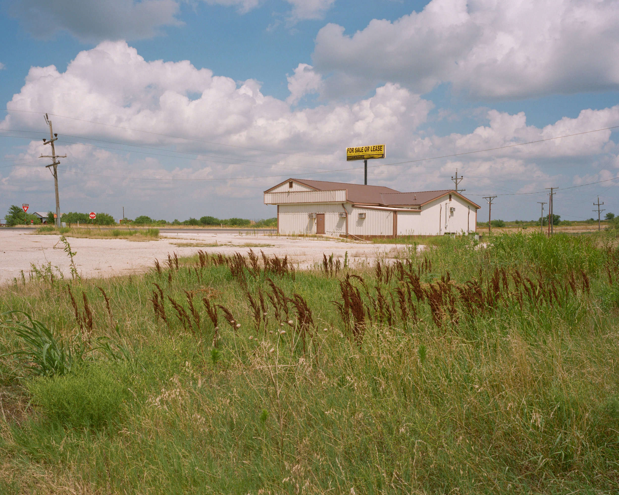 Adult Video no more, Highway 287, TX, 2019 - 120 Portra (6x7)