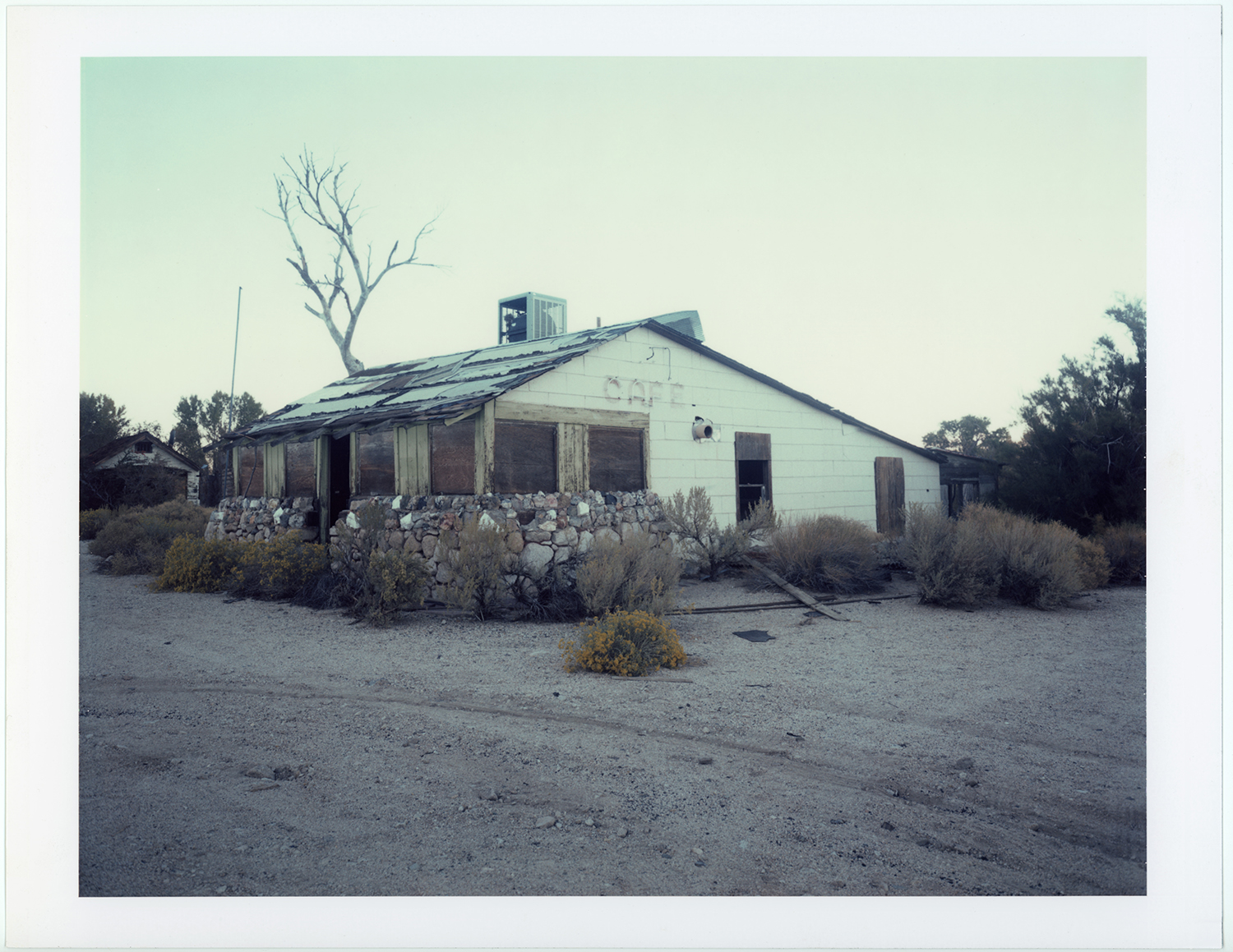 Forgotten cafe, Highway 395, CA, 2006/7 - 8x10 Polaroid 809