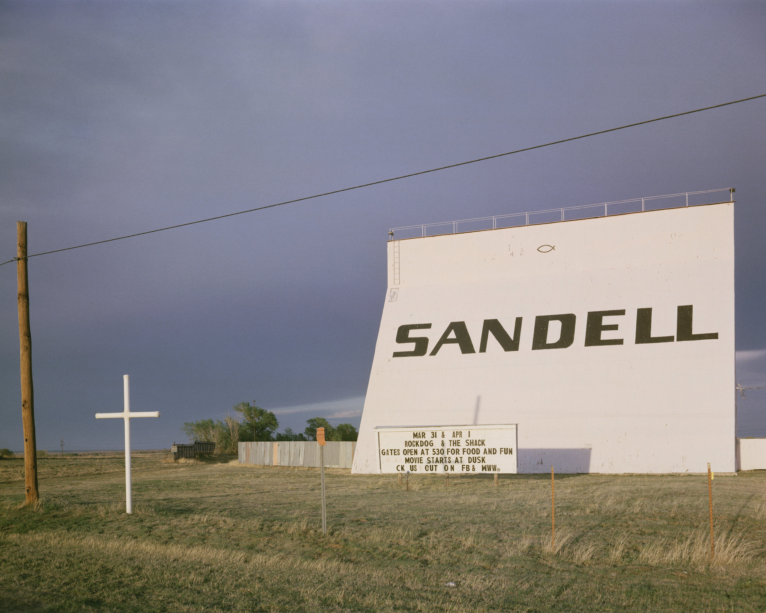 Sandell, Clarendon, TX, Highway 287, 2017 - 4x5 film