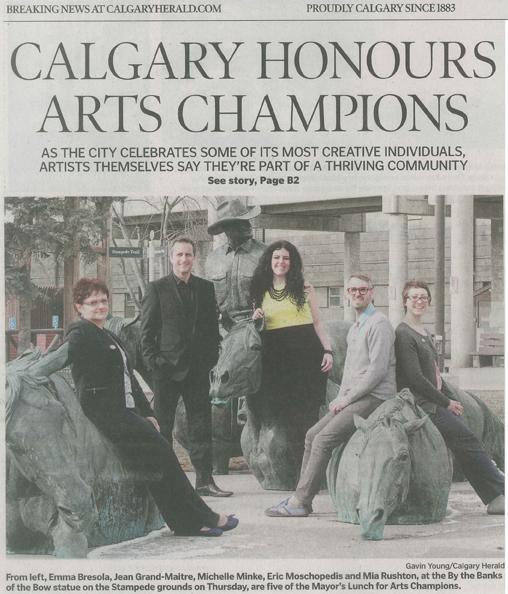 Recipient 2013, CCIS New Canadian Artist Award, Calgary, Canada