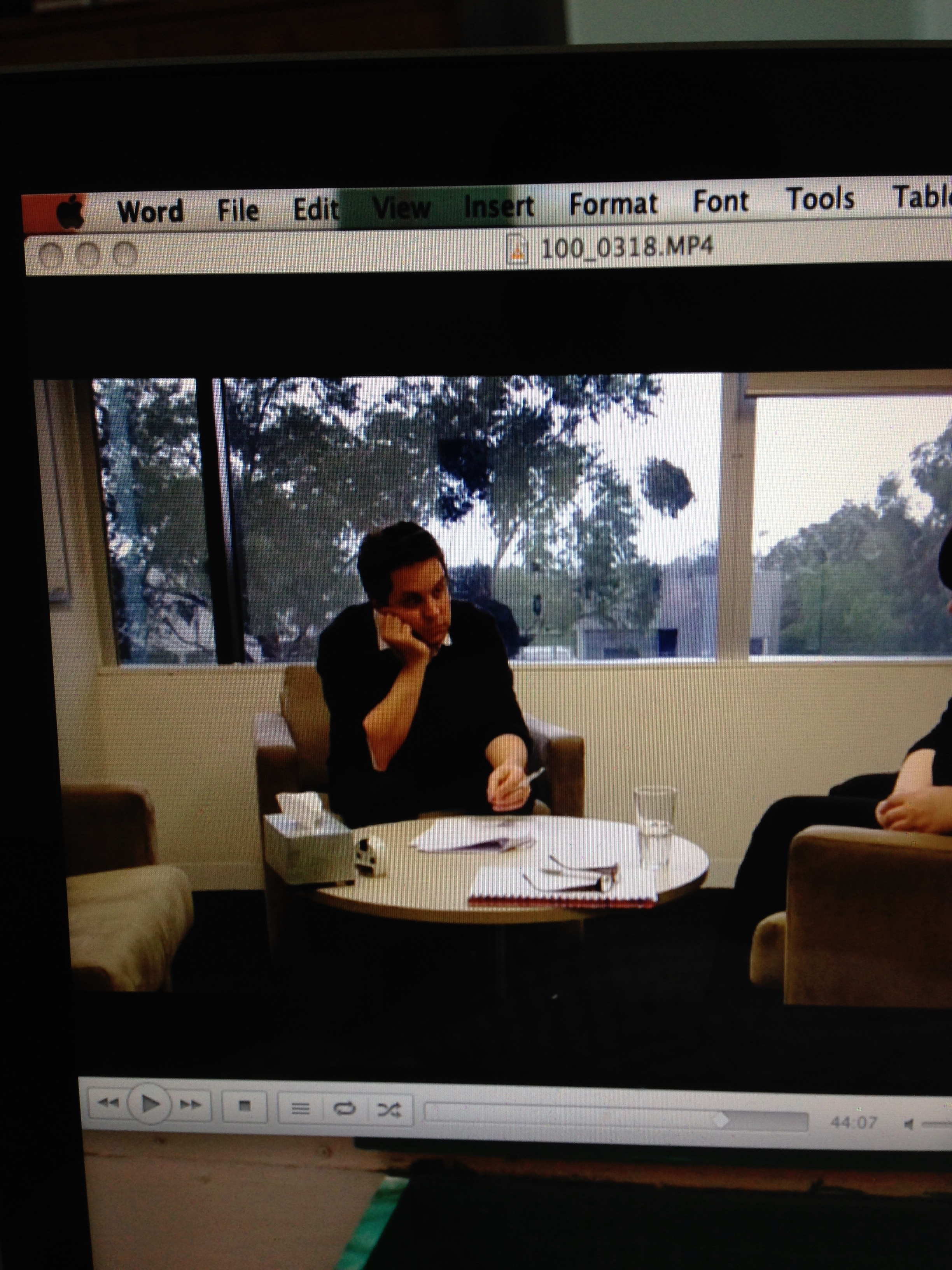 VIDEO RECORDING OF Practice tHERAPY SESSIONS: I THINK I SHOULD IMPROVE MY BODY LANGUAGE