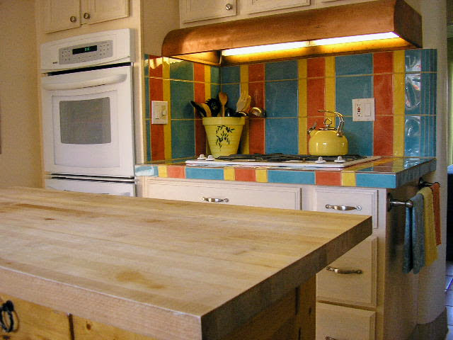 Locally Made Tile in the Kitchen