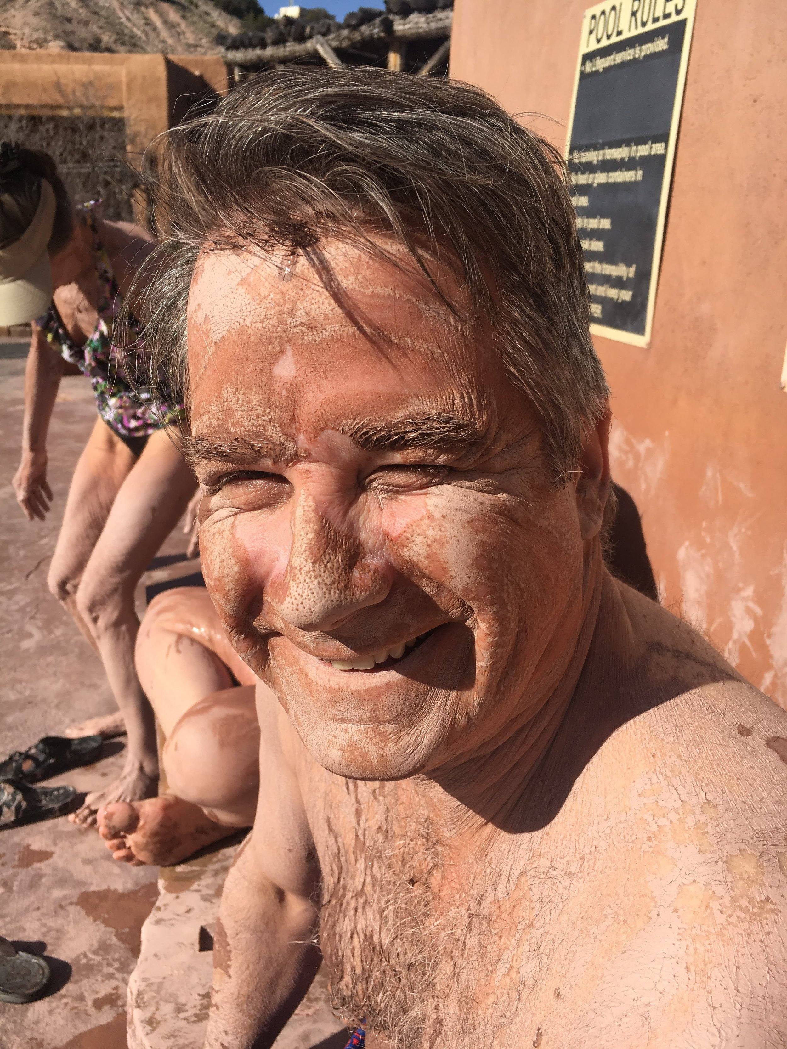 The famous mud of ojo caliente