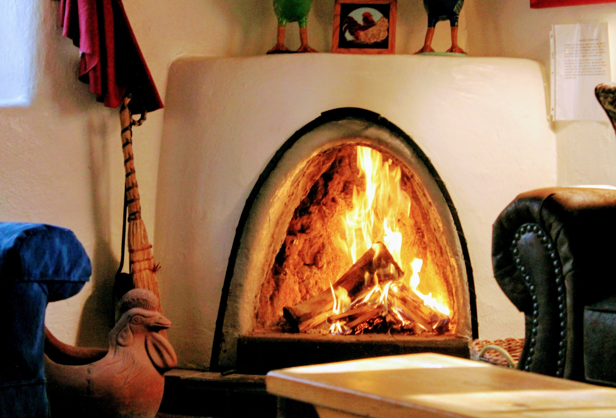 trade stories by your kiva fireplace at rancho jacona