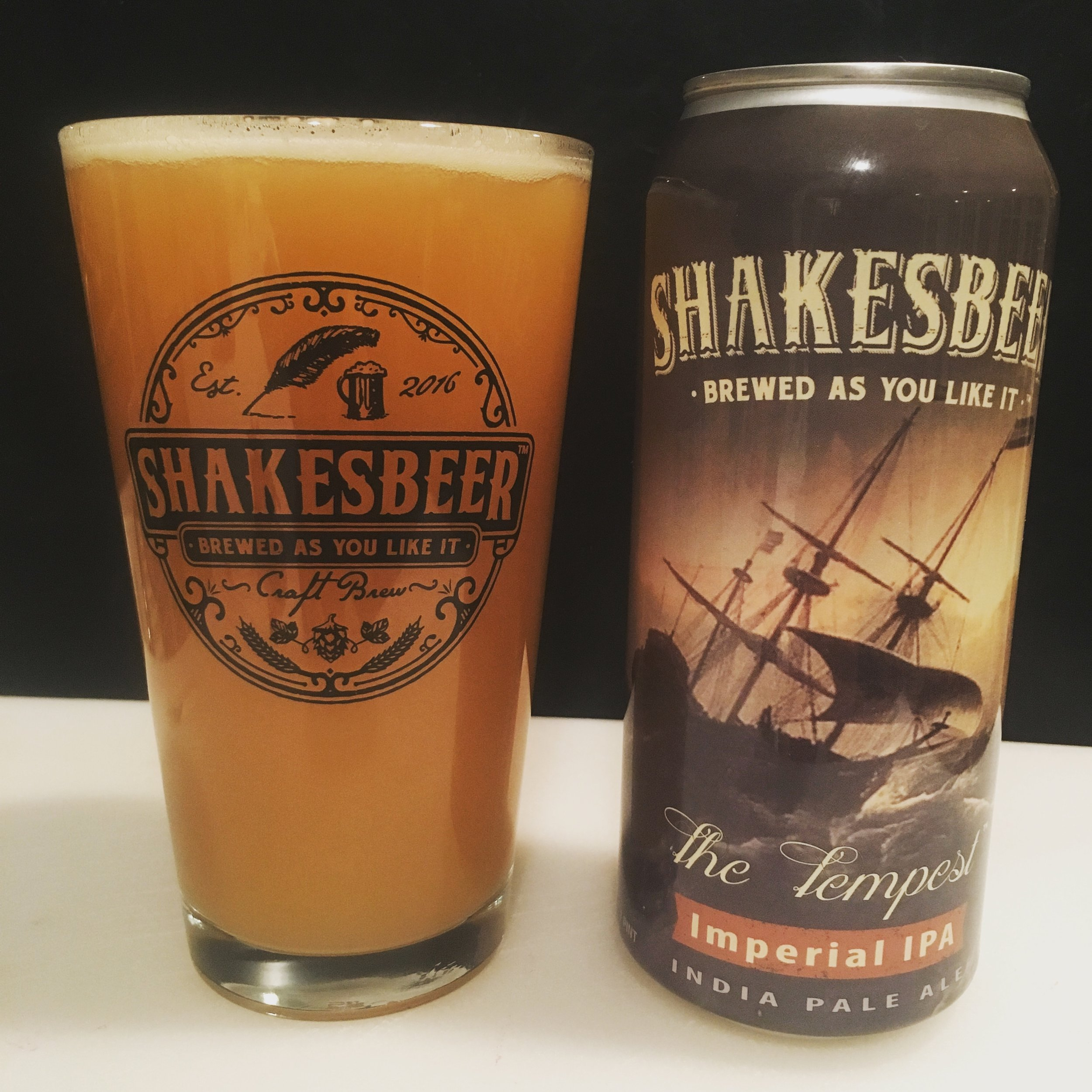 The Tempest - A Tempest brews and stirs within;Act One begets a potent twin;A storm of hops in time shall pass;Its only trace, an empty glass.A juicy New England Style IPA featuring six different hop varieties and a more robust 7.7% ABV.