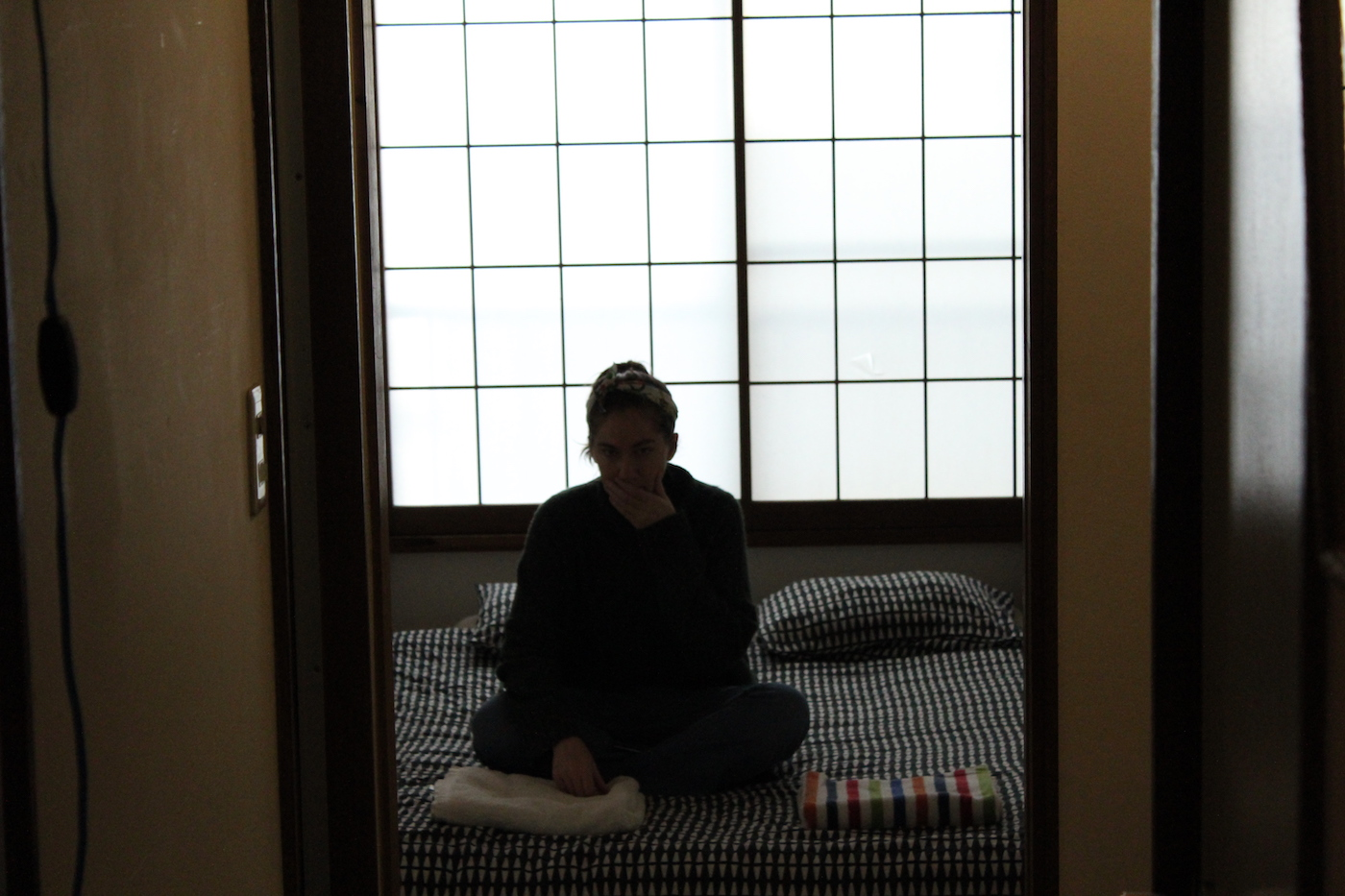 We stayed in a traditional Japanese apartment, complete with tatami mats and paper shades.  It was so nice to pretend like we lived there.
