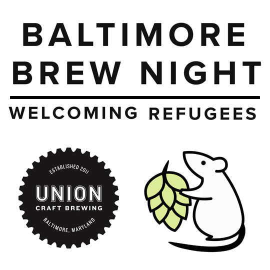 Thursday, Oct 5th - RSVP on Facebook here. Baltimore Brew Club and UNION Craft Brewing team up, raising pints and raising funds for refugee work based in Baltimore. For each pint we drink, $1 will be donated!No cover, but for the best deal, Baltimore Brew Club passport holders receive a take-home pint glass, along with other beer offers redeemable across the city, promoting Baltimore beer and raising funds for Baltimore non-profits. If you haven't signed up for your passport yet, do so here: www.baltimorebrewclub.com