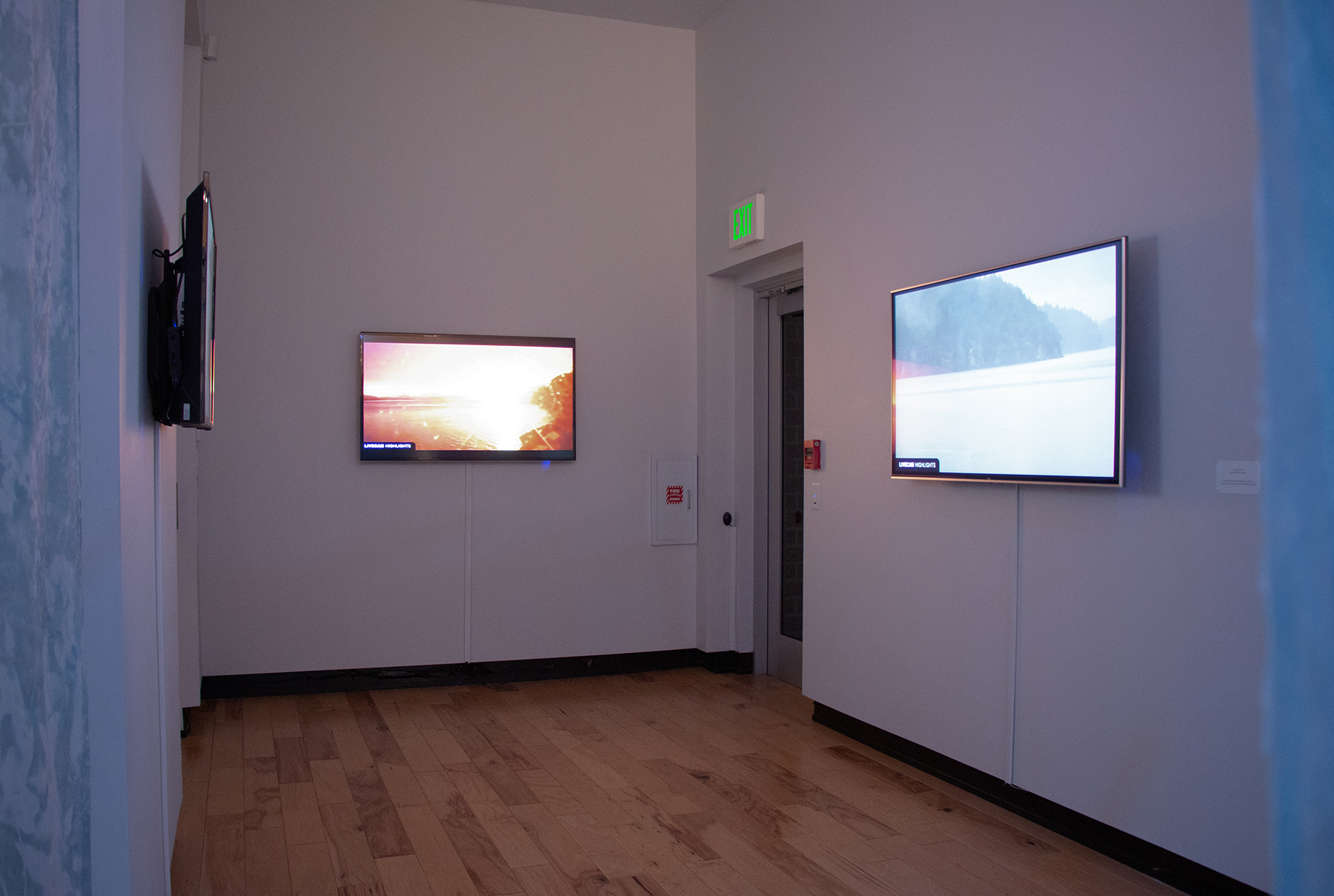 Installation View of Livestream Monitors
