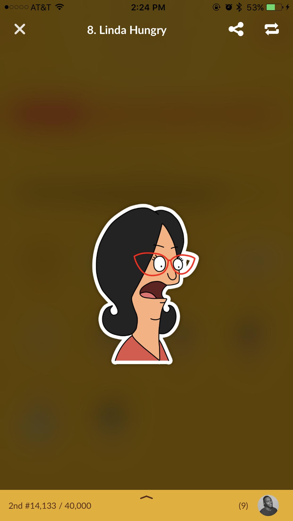 """Linda"" sticker from Bob's Burgers."