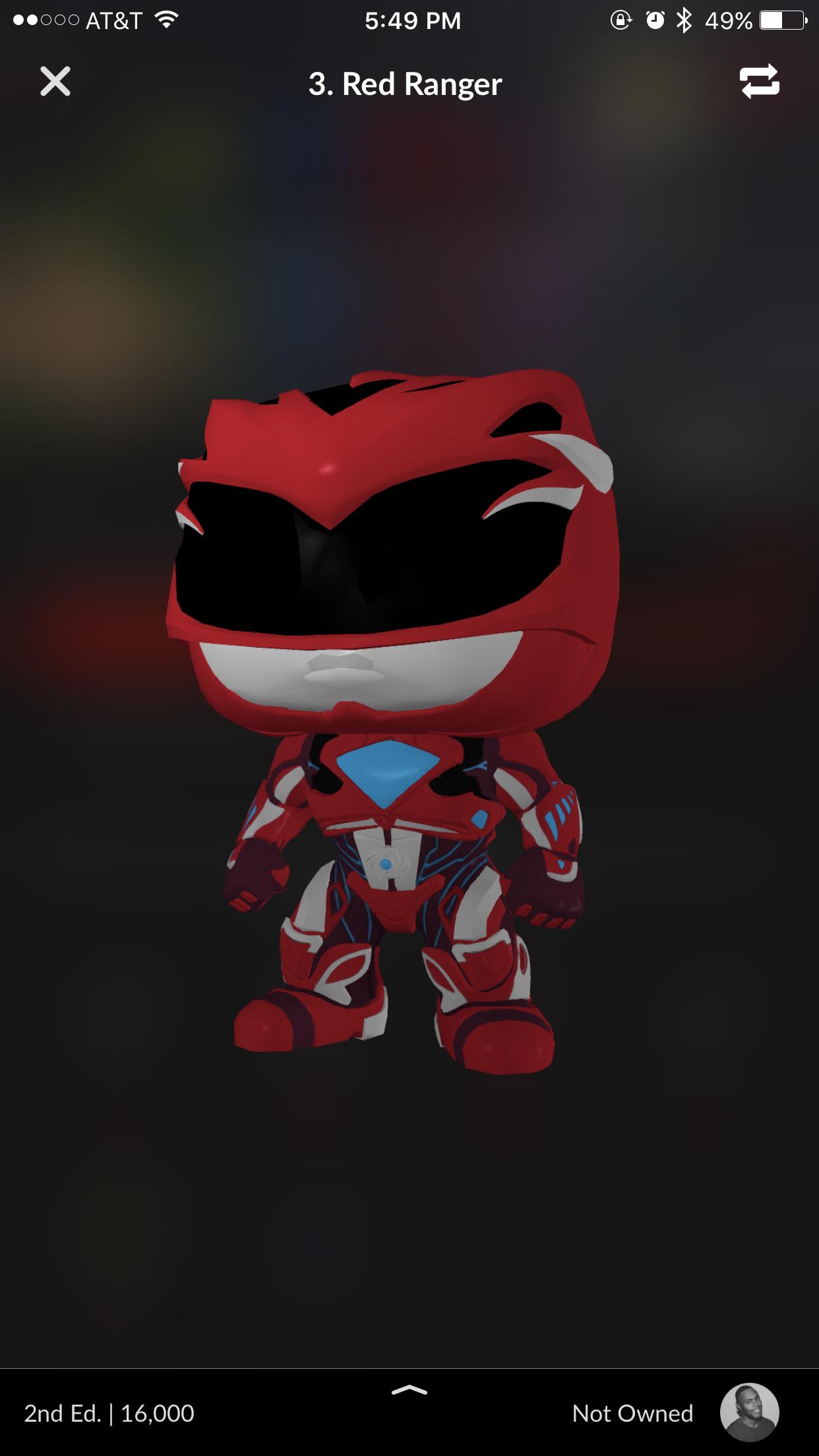"""Red Ranger"" 3D figure."