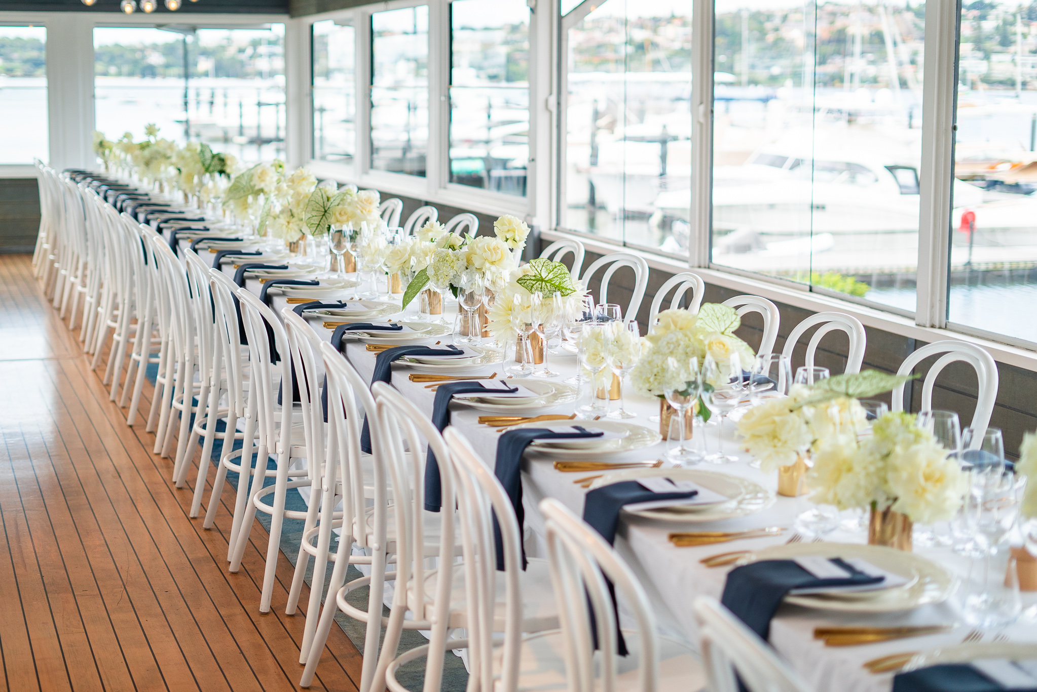 The Curated Life - Wedding Table Setting For Kate and Jono at Regatta Rose Bay .jpg