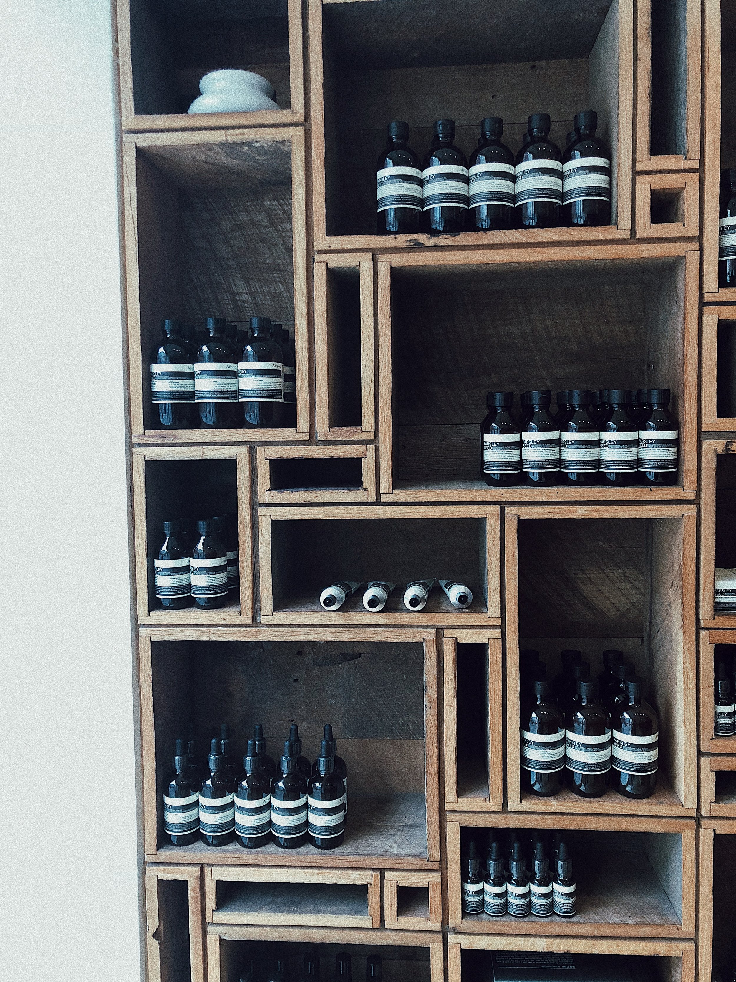 Aesop in Soho was also a stop with Nico. We're all about quality skincare, am I right?