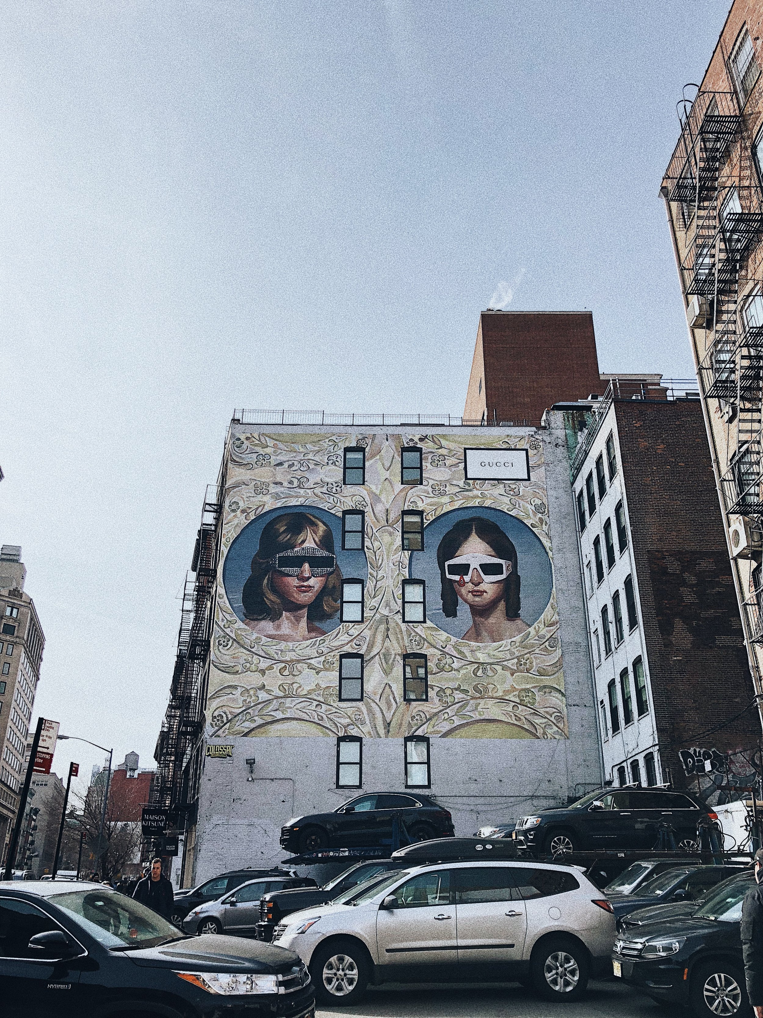 How amazing is this Gucci mural? I passed it every day walking into Soho.