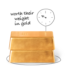 Gold bars - Worth their weight in gold