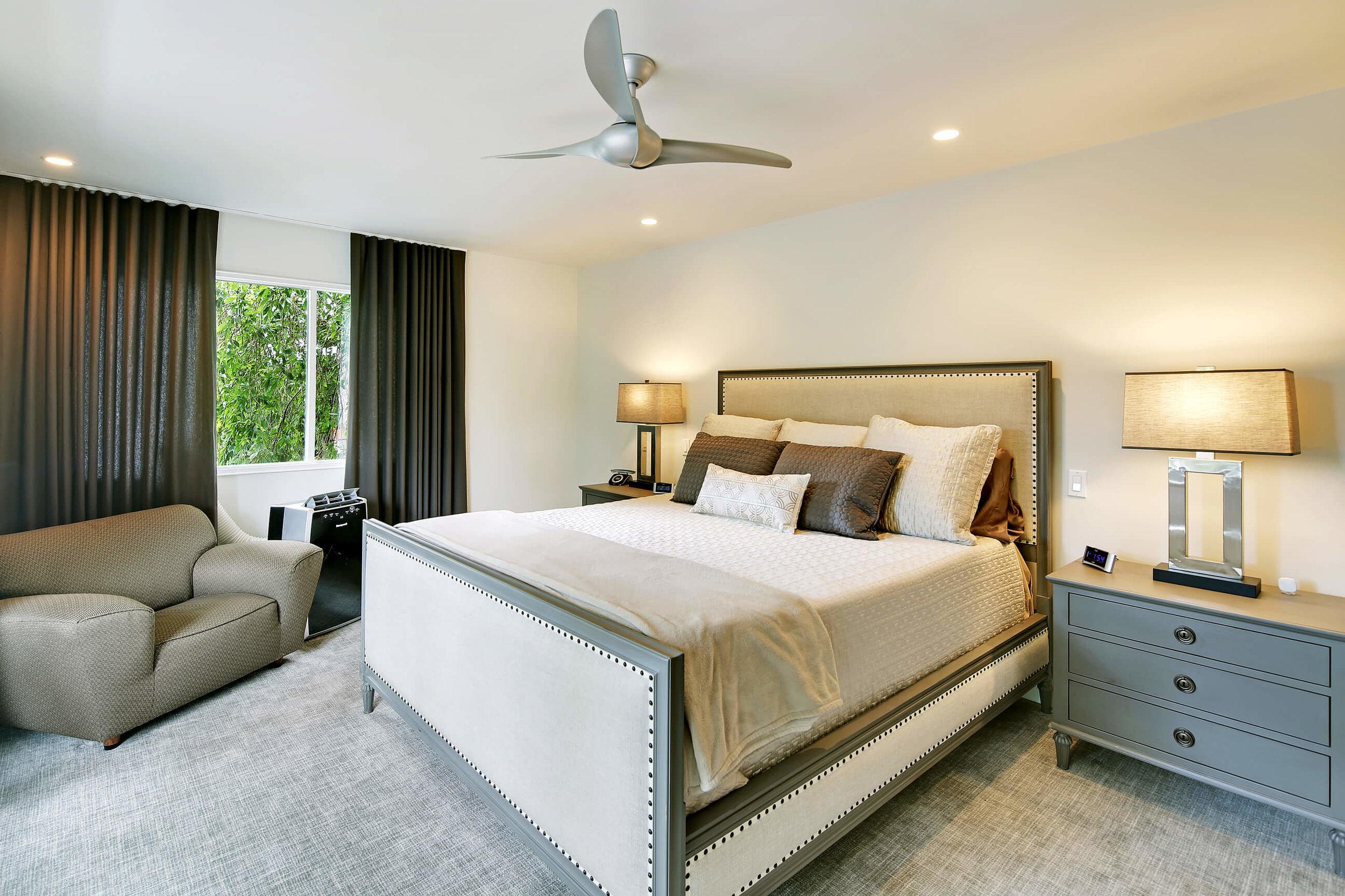 Master bedroom interior.