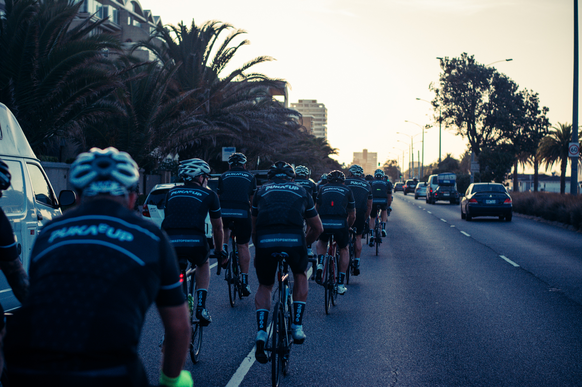 Early starts on beach road with the crew looking sharp in their new team kit