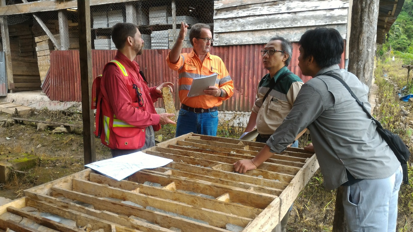 Awak Mas Geology Team Discussing Resource Drilling Program
