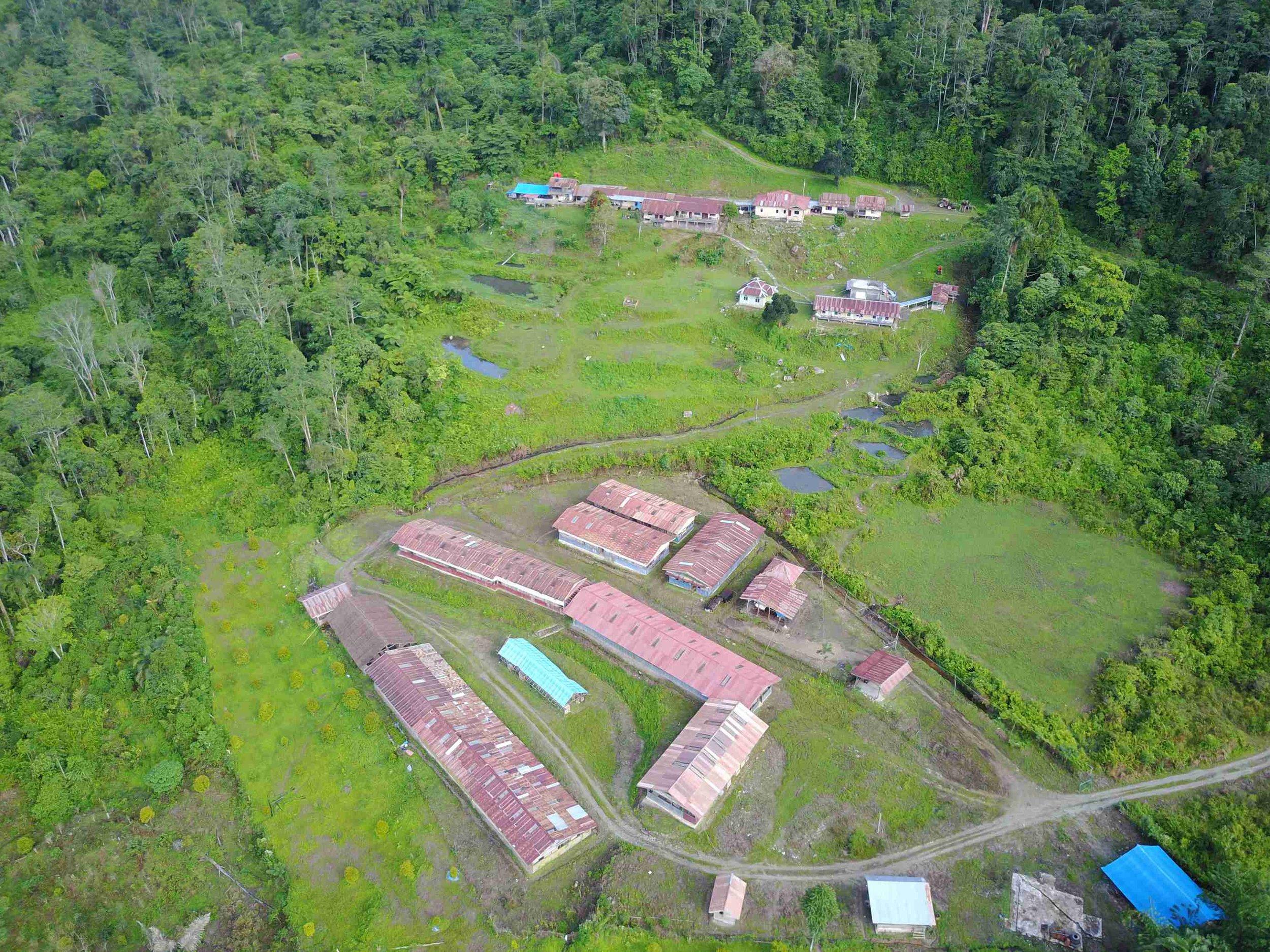Awak Mas Camp and Core Storage Facility
