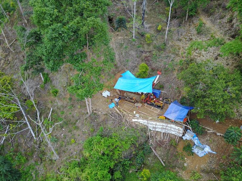 Drill Rig at Salu Bulo